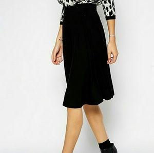ASOS Black Circle Skirt in Jersey Knit Size US 12